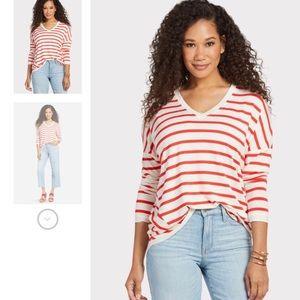 Allison Joy Red and White Stripe long sleeve